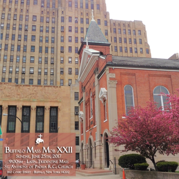 Buffalo Mass Mob XXII will be at St  Anthony of Padua R C